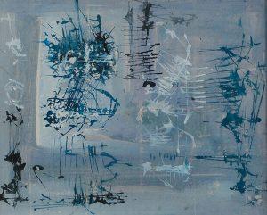 Senza titolo, 1954, olio su tela, cm. 119.5 x 83