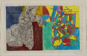 Studio per Rimpianti. 2012 . acrilico, collage fotocopie, matita colorata, inchiostro e acquerello su carta, cm. 28,9 × 45 Katarte