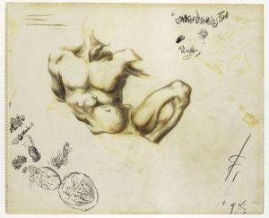 Jackson Pollock. Senza titolo, 1937-1939, Recto. Matite colorate e grafite su carta, cm. 43.2 x 34.9. The Metropolitan Museum of Art, New York