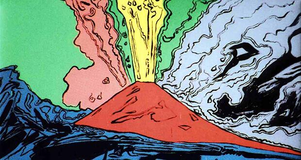 Andy Warhol - Vesuvius, 1985, serigrafia su tela