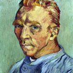 Vincent van Gogh. Autoritratto, senza barba, 1889, olio su tela, cm. 40 × 31. Collezione privata
