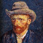 Vincent van Gogh. Autoritratto con capello di feltro grigio, 1887 - 88. Olio su tela, cm. 41,7 x 32,7. Rijksmuseum Vincent van Gogh, Amsterdam