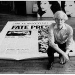 """Warhol nella Factory durante i lavori per il trittico """"Fate Presto"""", 1981. Foto by Michele Bonuomo"""