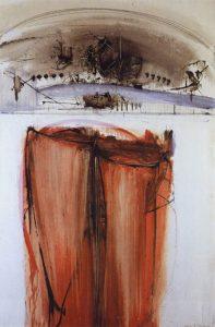 La Sindone,1957, olio su tela, cm. 195 x 130