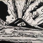 Andy Warhol - Vesuvius, 1985, serigrafia e acrilico su tela
