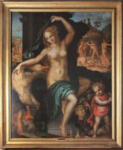 Leda e il cigno, 1512, olio su tavola, cm. 149,5x123. 1512. Olio su tavola. Chancellerie des Universités de Paris
