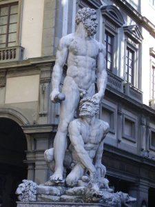 Ercole e Caco. Palazzo Vecchio, Fireze