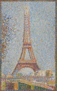 La tour Eiffel, 1889 ca., olio su tela, cm. 24,1 x 15,2. Fine Arts Museums of San Francisco