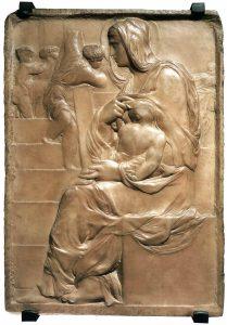 Madonna della Scala, 1490-1492, marmo, cm.56 x 40. Casa Buonarroti, Firenze