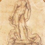 Baccio Bandinelli - Progetto per la fontana in Piazza della Signoria a Firenze, c. 1550-1560, matita su carta. cm. 23 x 17.4