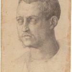 Baccio Bandinelli - Ritratto di Cosimo I, ca. 1544, matita nera. Gabinetto Disegni e Stampe degli Uffizi, Firenze