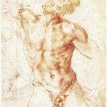 Baccio Bandinelli - Studio dal Laocoonte, c. 1520, matita su carta. cm. 27.9 x 21.4. Galleria degli Uffizi, Firenze