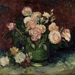 Vincent van Gogh. Rose e peonie, 1886, olio su tela. cm 59,8 x 72,5