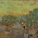 Vincent van Gogh. Uliveto con due raccoglitori di olive, 1889, olio su tela