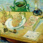 Vincent van Gogh. Natura morta con piatto di cipolle, 1889, olio su tela
