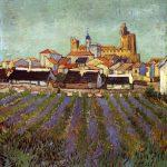 Vincent van Gogh. Veduta di Saintes Maries, 1888, olio su tela. cm. 64,2 x 53