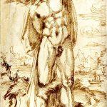 Baccio Bandinelli - Nudo maschile legato ad un albero, possibilmente San Sebastiano, c. 1532
