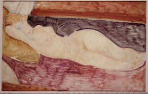 Amedeo Modigliani. Nudo sdraiato, 1918-1919, acquisto alla Marlborough Gallery