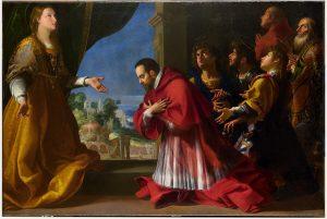 Giovanni Baglione. San Carlo in preghiera. Chiesa parrocchiale, Pogno