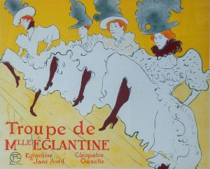Compagnia di M.lle Eglantine. Manifesto litografico, 1896