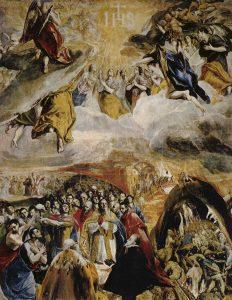 L'Adoración del Nome di Gesù, 1577-79, olio-su tela cm. 140 × 110. The National Gallery, Londra