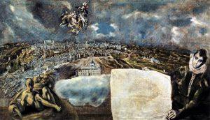 Veduta e mappa di Toledo, 1608 - 1614, olio su tela, cm. 132 x 228. Museo de El Greco, Toledo.