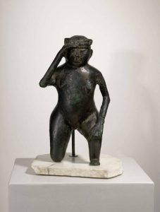 Stefanus Lagerensis. XII secolo. Il soffiatore, bronzo, cm. 32 × 18 × 17. Collezione privata