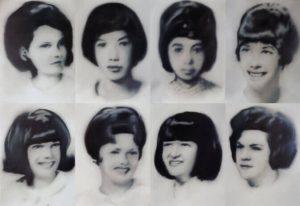 Otto infermiere tirocinanti, 1968.