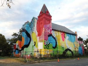 Murales su una chiesa. Washington, DC, 2012