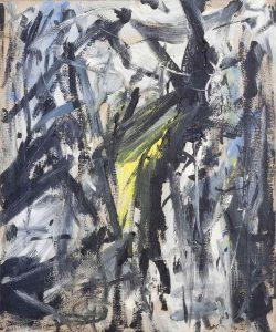 Emilio Vedova. Senza titolo, 1958. Olio su tela, cm. 60 x 50