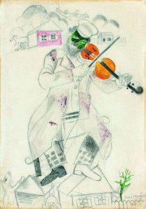 Il violinista verde,1923, olio su tela, cm. 78 × 42. Museo Guggenheim, New York