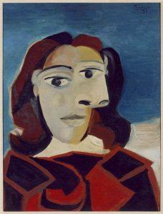 Pablo Picasso. Ritratto di Dora Maar, 1939, olio su tavola, cm 60 x 45. Collezione del Museo Reina Sofía, Madrid