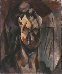 Pablo Picasso. Testa di donna (Fernande), olio su tela, cm. 61 × 50. Collezione del Museo Reina Sofía, Madrid