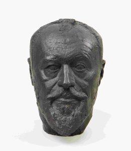 Testa del padre, rotonda III, 1927-1930 ca., bronzo, cm. 28 x 19 x 22,8. Collezione Fondation Giacometti, Parigi