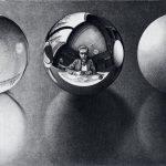 Cornelis Escher. Tre sfere II, 1946, litografia