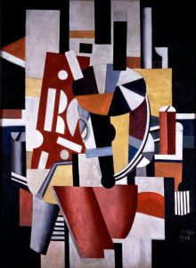 Fernand Legér. Il tipografo, 1917 - 18, olio su tela, cm. 130 x 97