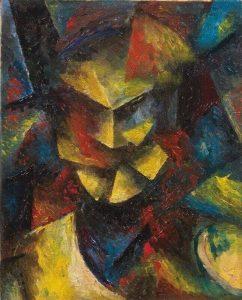 Testa futurista, 1913, olio su tela, cm. 39.9 x 31.7