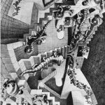 Escher. Case di scale. 1951