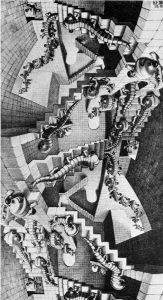 Escher. Case di scale. 1951