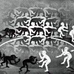 Cornelis Escher. Incontro, 1944, litografia