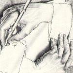 Cornelis Escher. Mani che disegnano. Litografia, 1948
