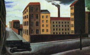 Paesagagio urbano con camion, 1921