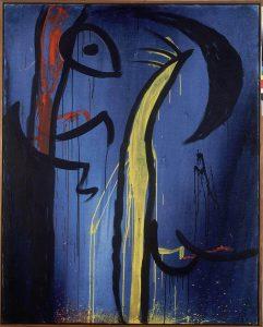 Senza titolo, 1974 circa, acrilico su tela, cm. 162,5 x 130,5. Fundació Pilar i Joan Miró a Mallorca © Successione Miró by SIAE 2014 Foto: © Joan Ramon Bonet & David Bonett