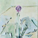 """Filippo de Pisis. La rosa nella bottiglia, 1950, olio su tela. Ferrara, Museo d'Arte Moderna e Contemporanea """"Filippo de Pisis"""""""