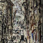 Filippo de Pisis. Strada di Parigi, 1938, olio su tela, cm. 73,5 x 54,5. Donazione Fondazione Giuseppe Pianori