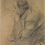 Giovanni Boldini. Ritratto di Edgar Degas, c. 1885 - 90, carboncino su tela, cm. 60,5 x 46