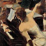Giovanni Boldini. La cantante mondana, c. 1884, olio su tela, cm. 61 x 46. Collezione Fondazione Carife, in deposito presso le Gallerie d'Arte Moderna e Contemporanea di Ferrara