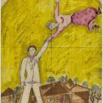 Marc Chagall. La passeggiata, 1919. Gouache, acquerello e grafite su carta, cm. 32x23 Credits: The Israel Museum, Jerusalem © Chagall ® by SIAE 2015