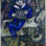 Marc Chagall. Fisarmonica, ca. 1912-1914. Guazzo, acquerello, e pastelli su carta, cm. 66,5 x 52,2. Lascito di Simon e Tekla di Bond