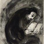 Marc Chagall. Ebreo in preghiera, 1924/25. Inchiostro di china, grafite e acquerello su carta, cm. 43,9 x 32,7. Credits: Dono dell'artista © Chagall ® by SIAE 2015